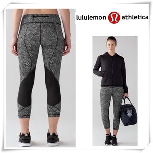 EUC Lululemon Pace Rival Crop leggings Pant